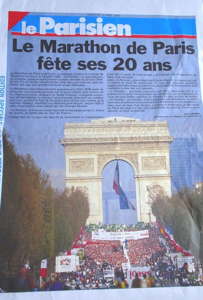 Les 20 ans du marathon de Paris
