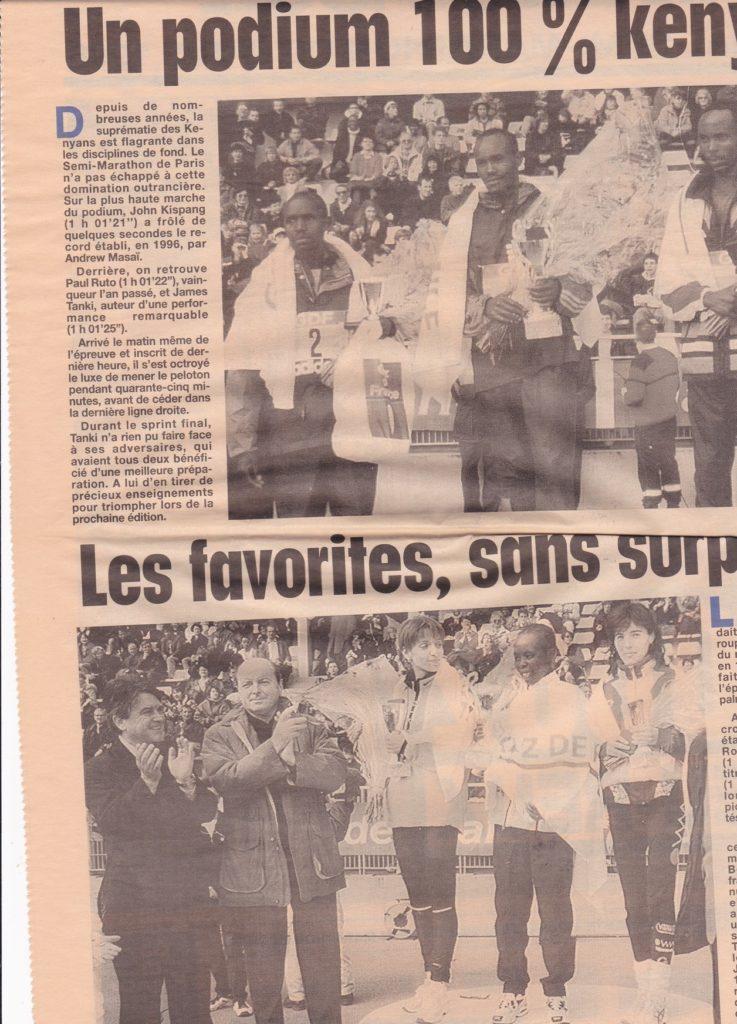 Half-marathon of Paris 1998 Results - Page 2