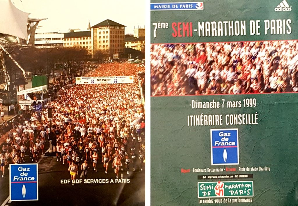 Start of the Paris half marathon 1999