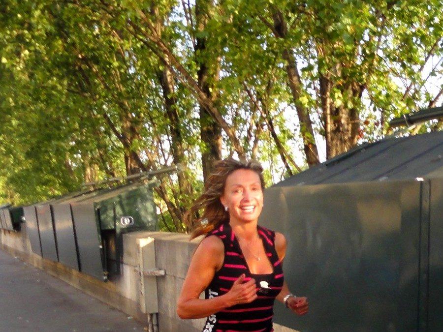 Le long de la Seine avec Angela