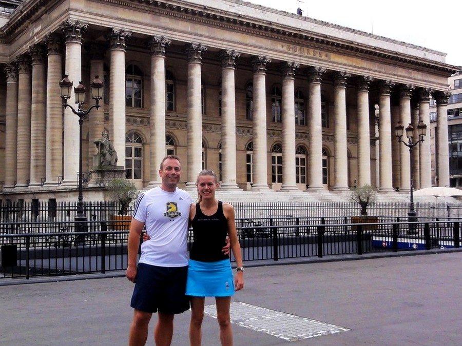 Centre de Paris, rive droite avec Liz et Curt