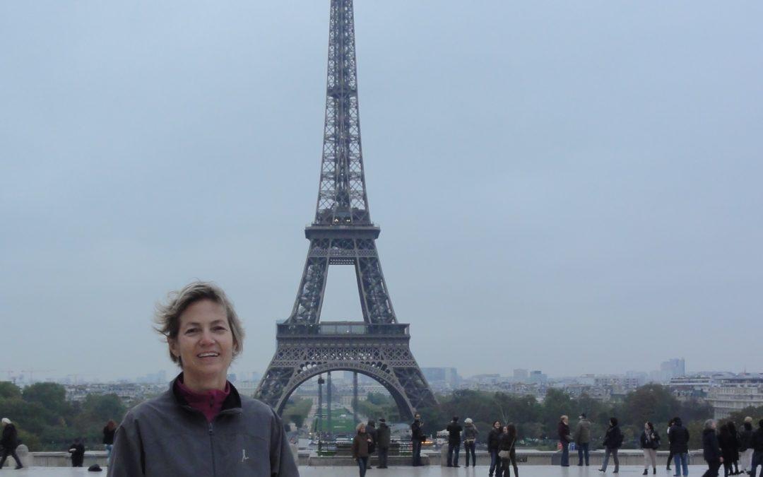 Au Champ de Mars avec Sylvie