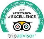 Gagnant Star Trip Advisor 2019