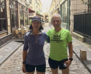 Janice Chung and Jean-Charles of Paris Running Tours