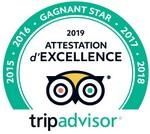 TripAdvisor Gagnant Star 2019
