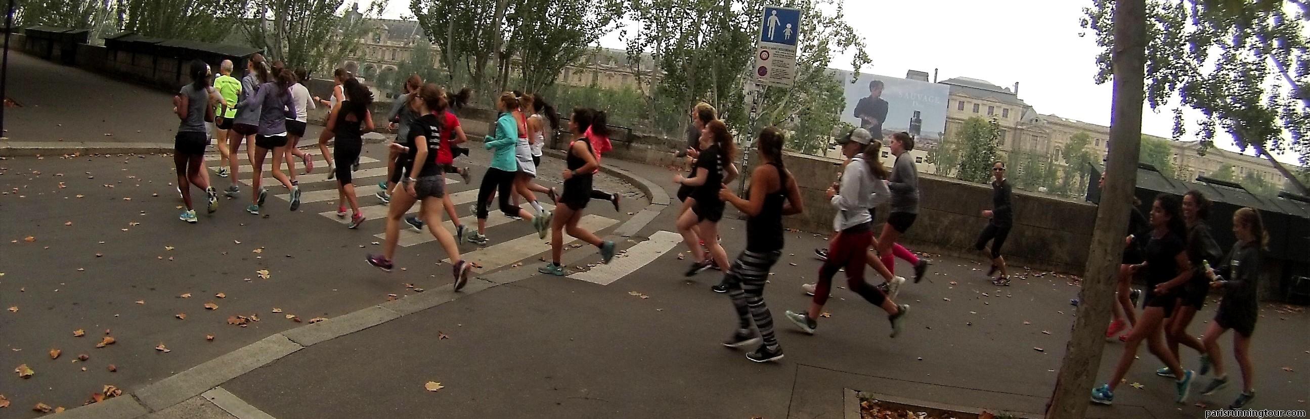 Courir sur les quais de Seine