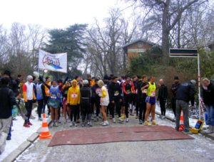 Start of the Valentine's Day Run 2010 – Snow and Ice