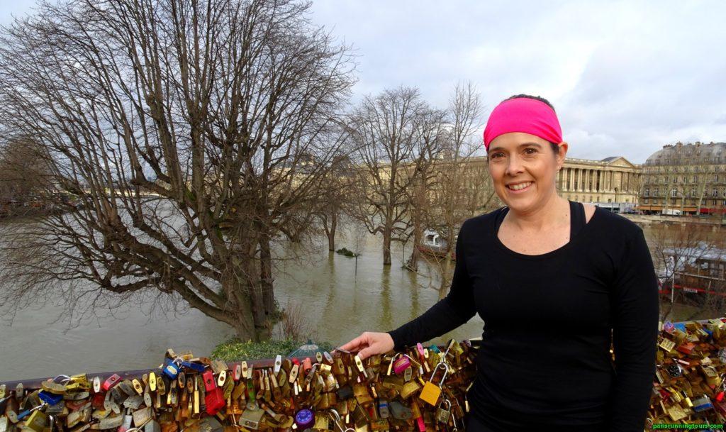 Depuis le Pont Neuf, le square du Vert Galant inondé