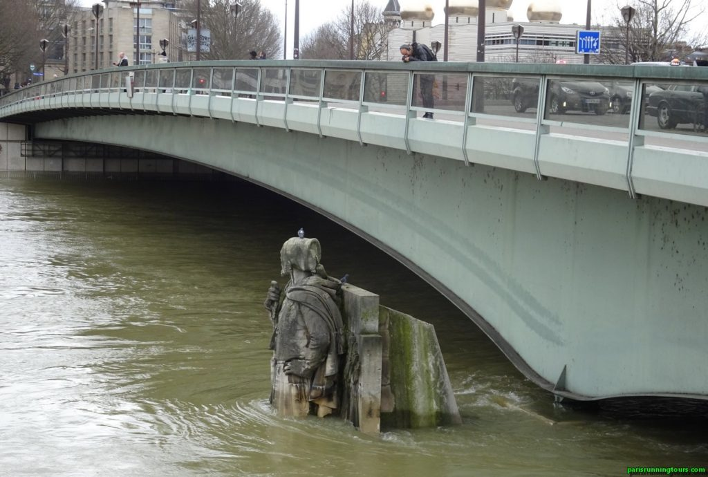 Le zouave du Pont de l'Alma - fin janvier 2018