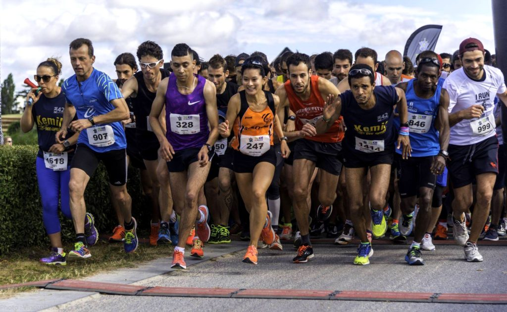 Start of the 10 km of the Hexagone Paris 2017