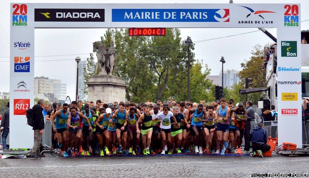 Start of the 20 km of Paris