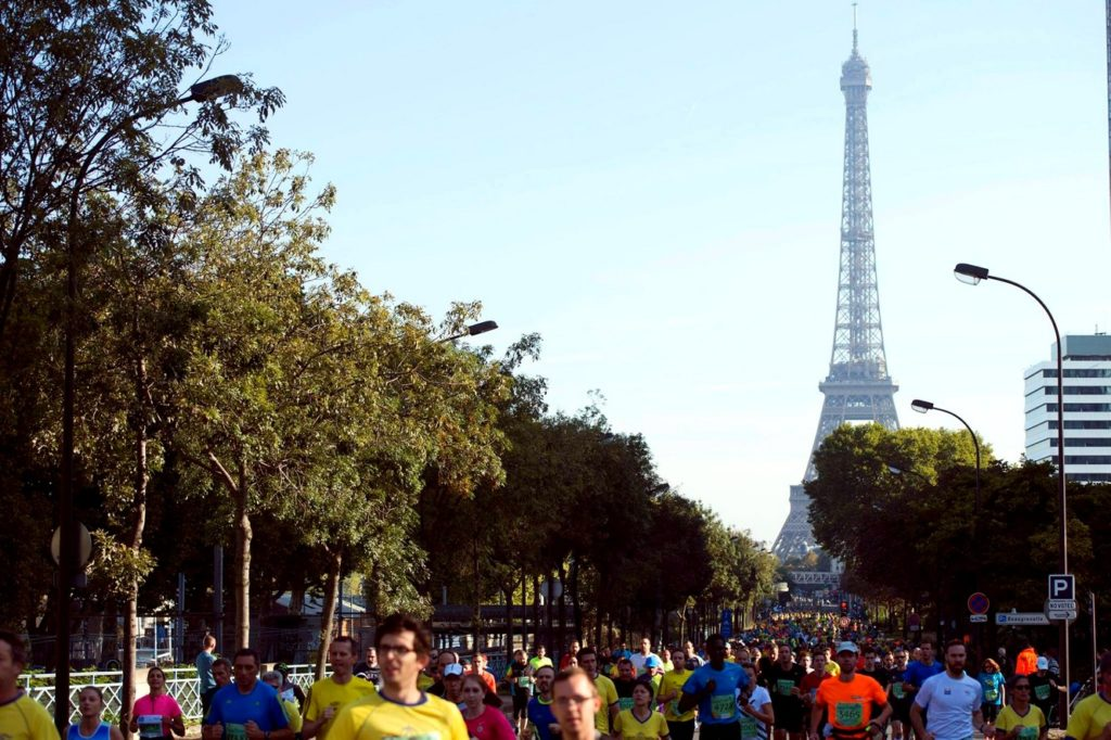 Start at the foot of the Eiffel Tower