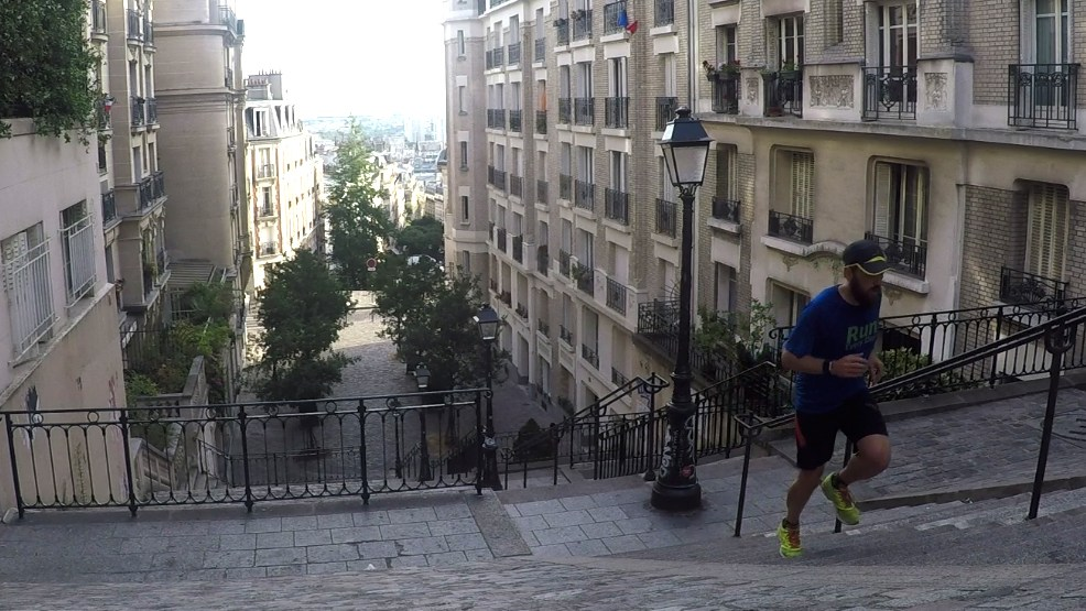 UTBM - Greg Runner testant le parcours