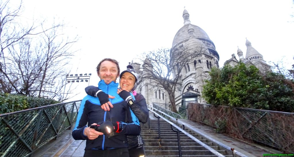 In Montmartre with the imposing Sacred Heart - Thank you Daniele and Marina!