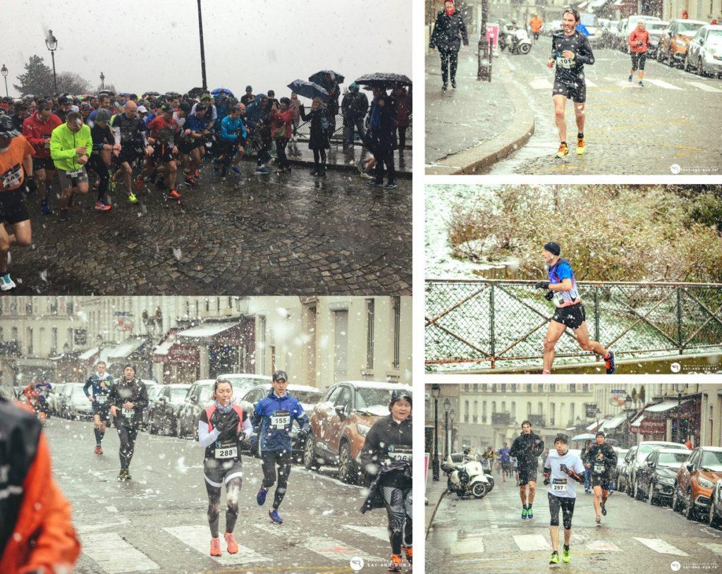 Les Foulées du Tertre 2018 - Courir sur les pentes pavées de Montmartre enneigées !