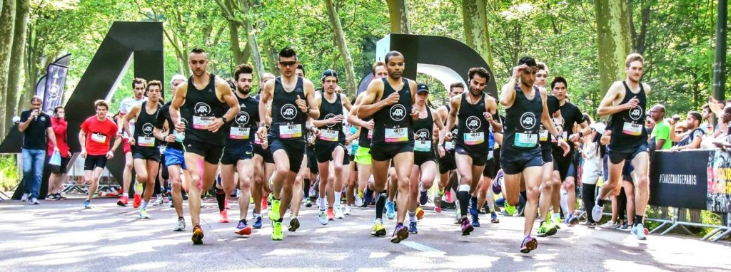 Start of the 10 km of the Bois de Boulogne 2018