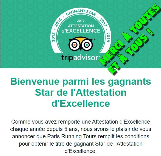 Gagnant Star Attestation d'Excellence
