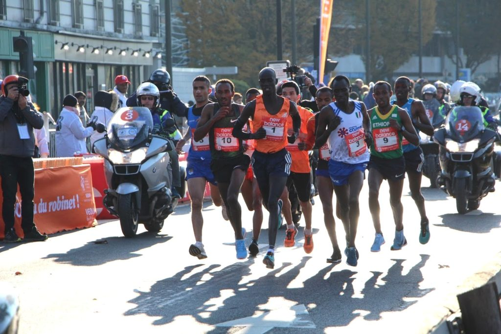 Half-marathon of Boulogne 2018 - International athletes leading the race