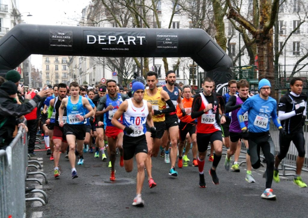 Start of the 10 km of the 14th 2019