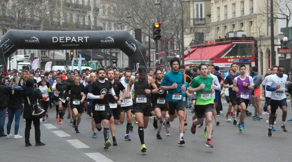 Start of the '10 km du Neuf' 2019