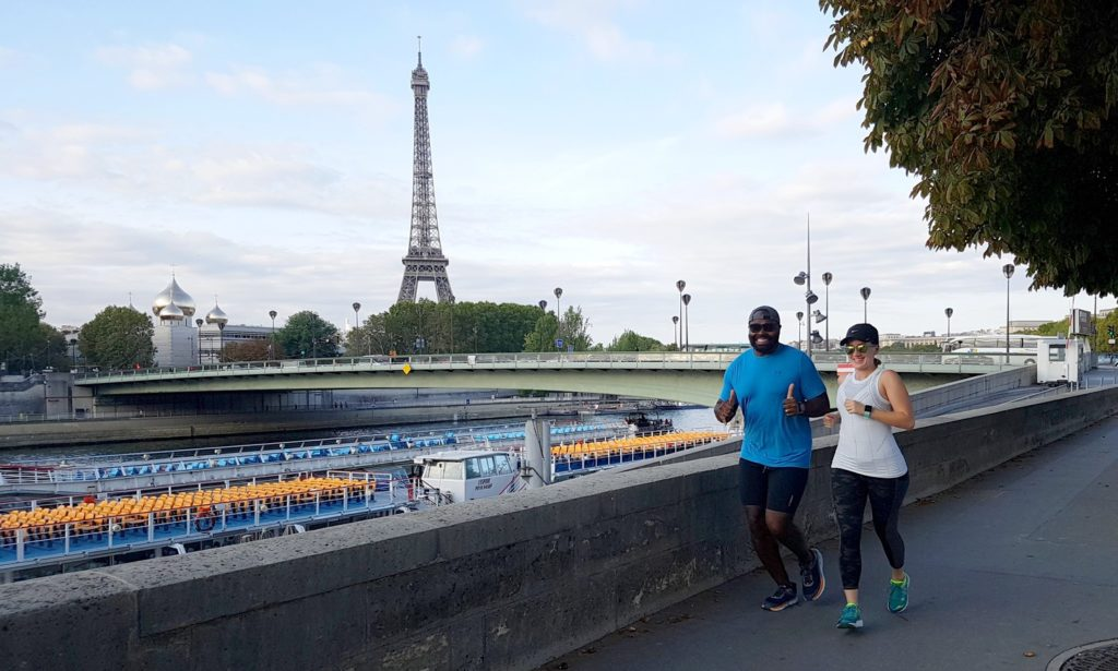 Robert and Nicole along the Seine