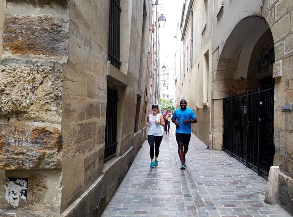 An old narrow street in the Marais