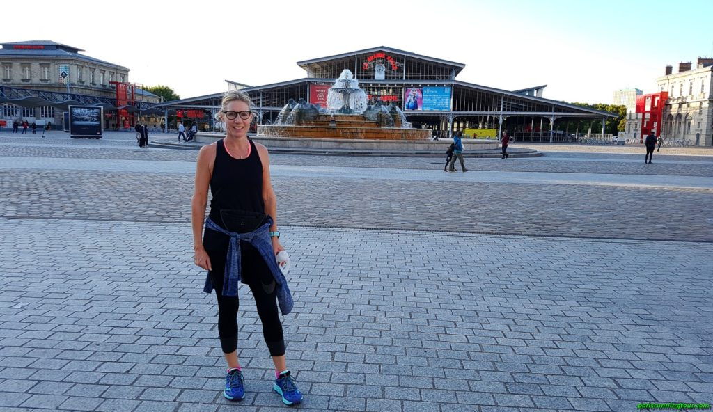 A Grande Halle, now a cultural centre but which was once a large beef market (slaughterhouses...)