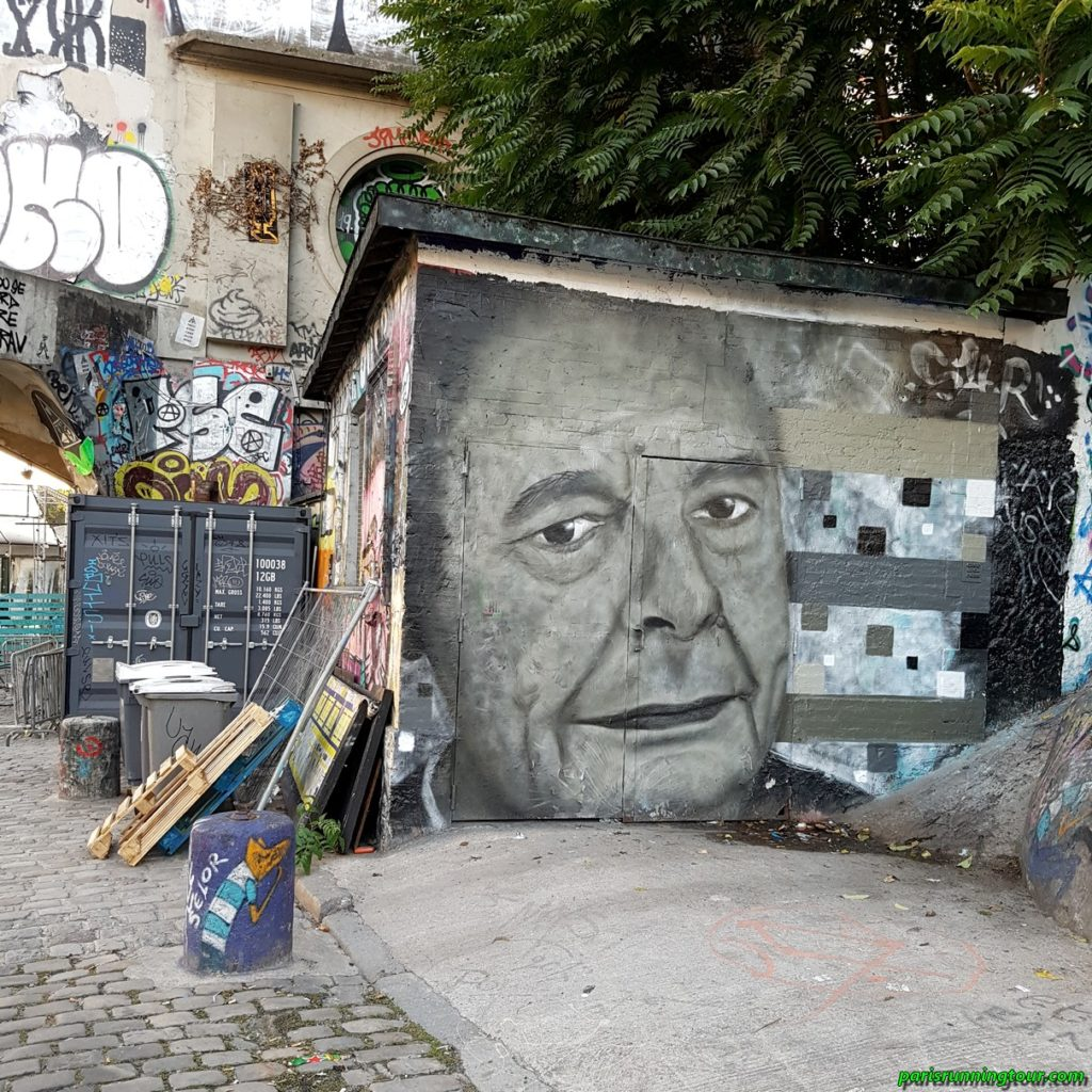 A street-art tribute to the recently deceased president