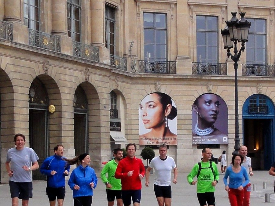 To close a working stay in Paris, a Running tour!