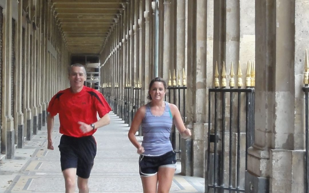 Passing by the Palais Royal with Bill and Emily