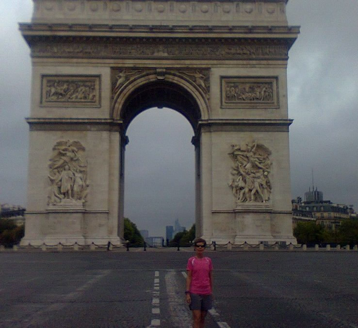 At the Arc of Triumph with Tracy