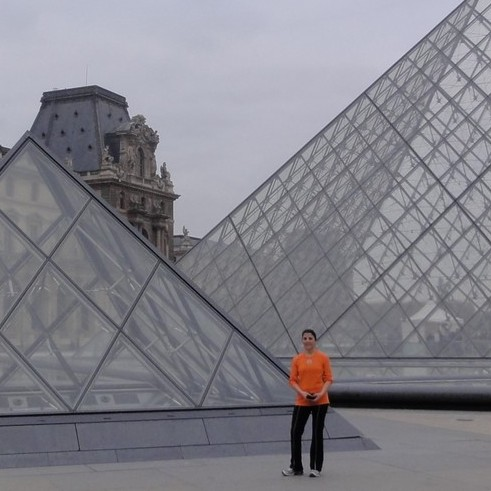 From the Eiffel Tower toward Notre-Dame by the Louvre with Marnie