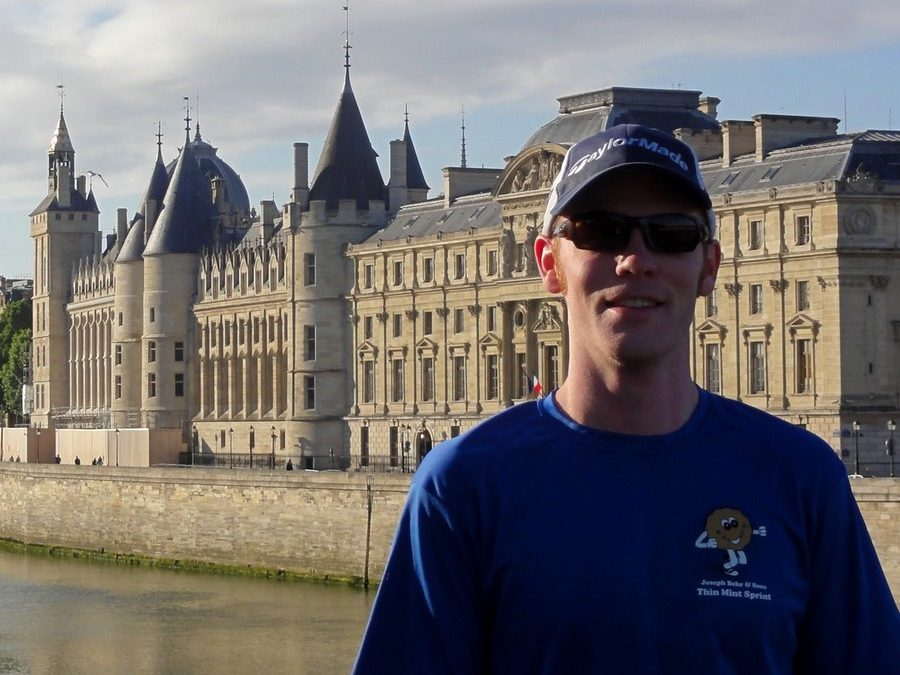In front of the renewed Conciergerie with Greg