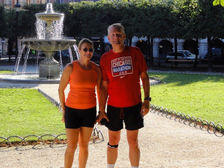 Place des Vosges with Anne and Niels