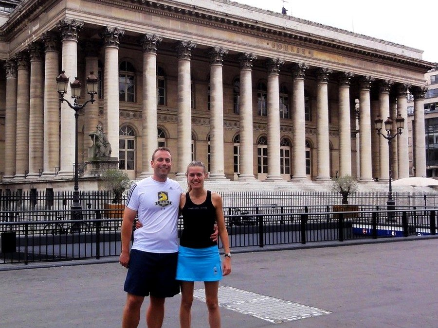 Center of Paris, right bank with Liz and Curt