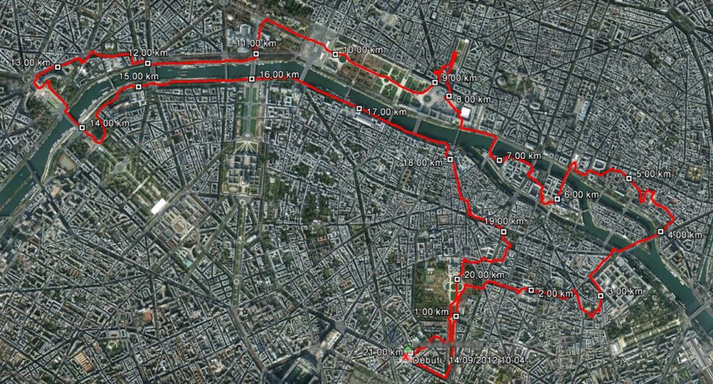 Paris Running Tour - Running 14-09-2012