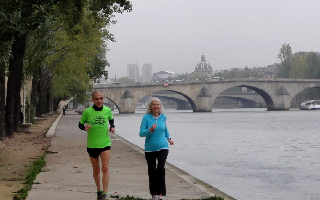 Running in October in Paris