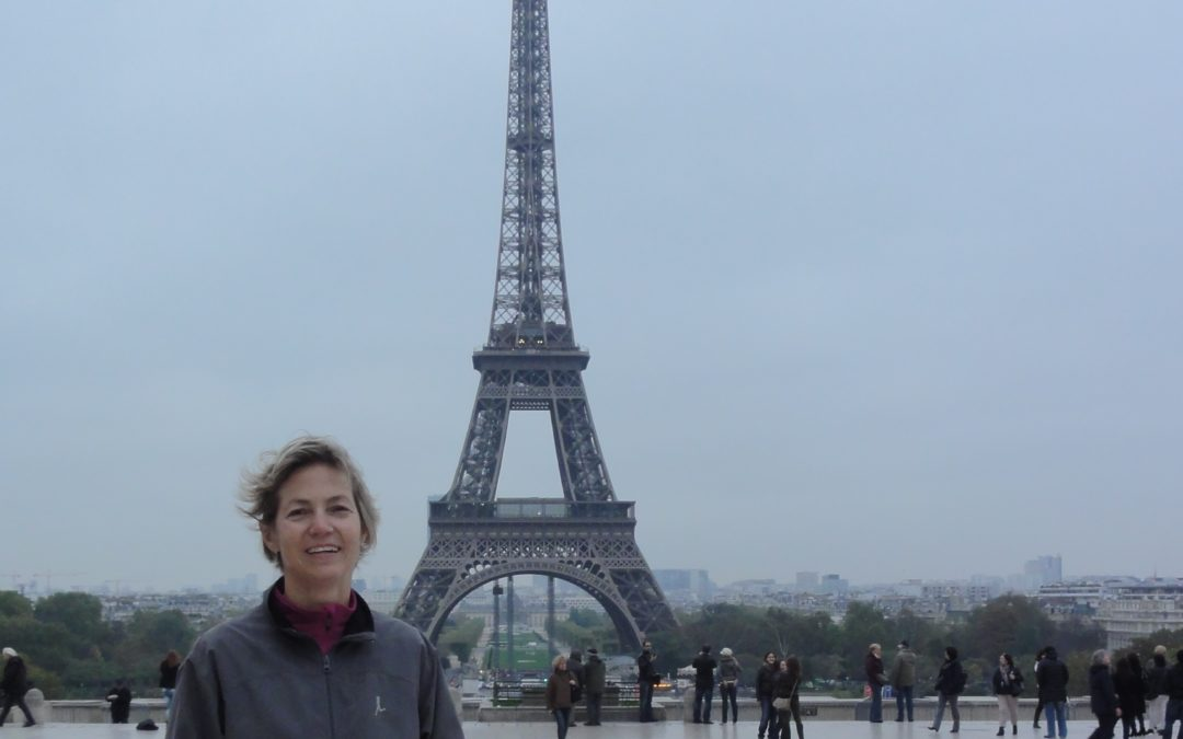 "At the ""Champ de Mars"" with Sylvie"