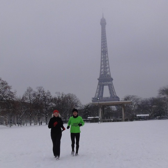 Running in January in Paris