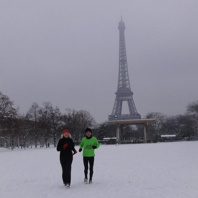 Running in January in Paris