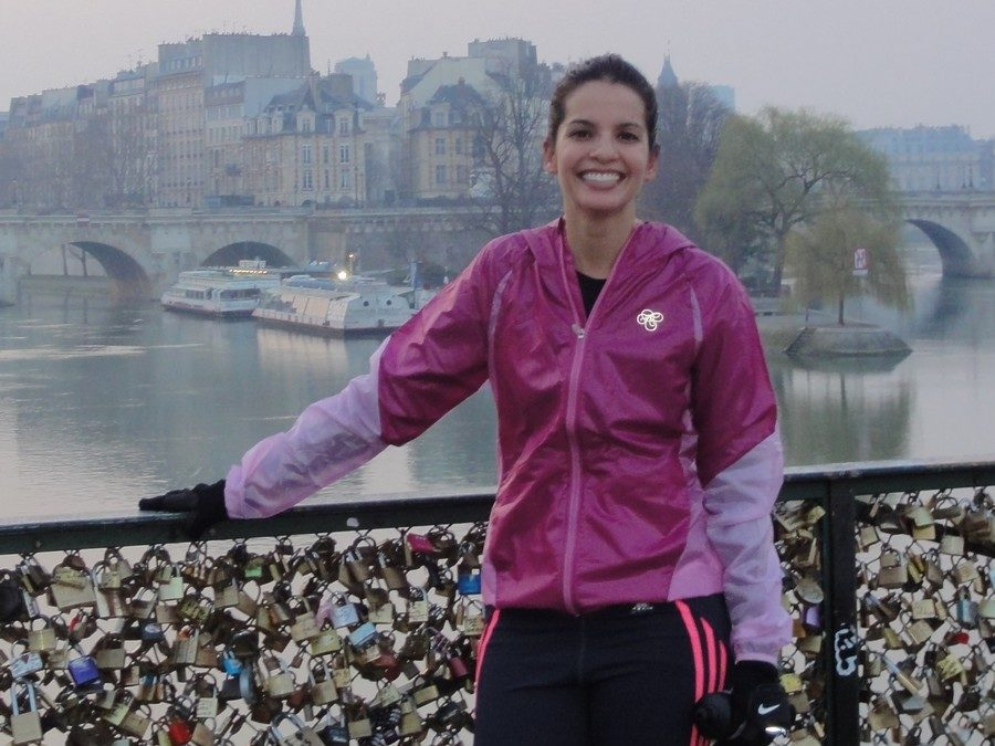 "On the ""Pont des Arts"" with Manoella"