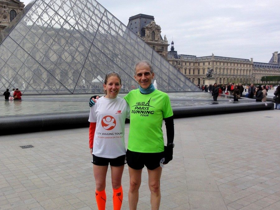 London came to run with Paris ! With Hope from City Jogging Tours of London