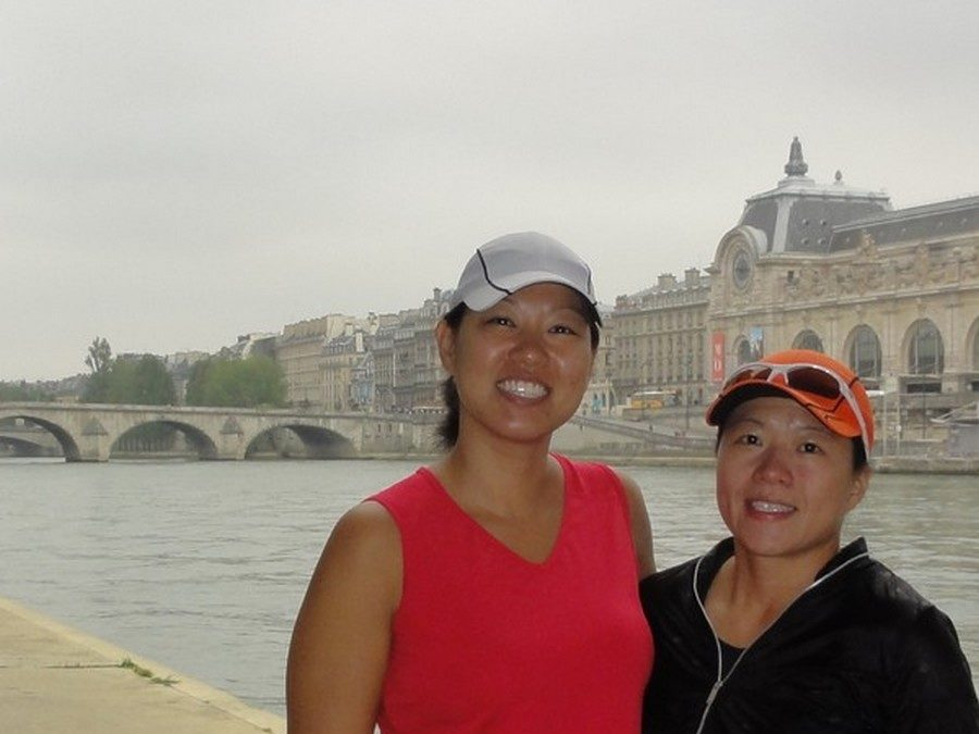 Running in the Parisian Passages with Michelle and Susan