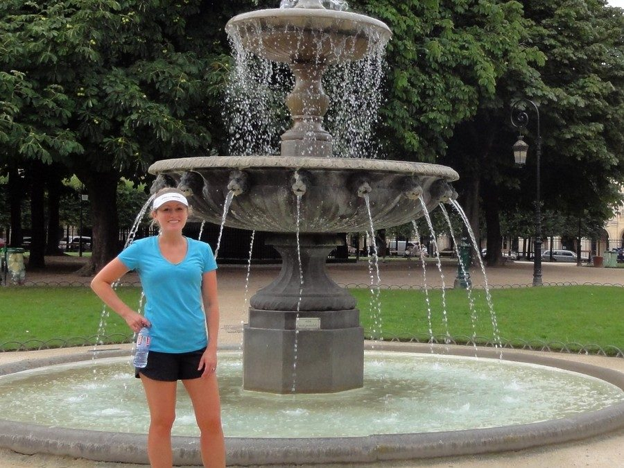 Zigzags from Nation to Trocadero, 11 miles by running in Paris with Anne