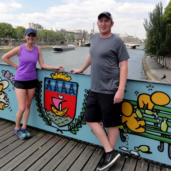 In the Latin Quarter with Erin et James