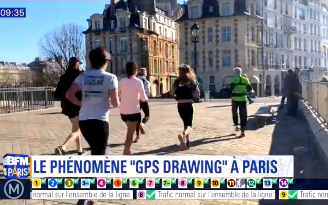 GPS drawing in Paris with Paris Running Tours